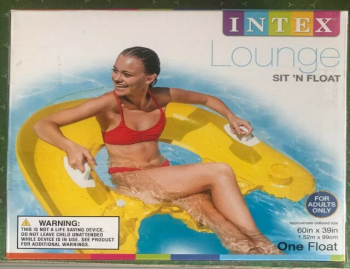 Intex 58859EP Sit N Float Inflatable Swimming Pool Lounger